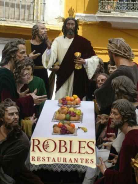 Robles servirá el catering de la Sagrada Cena 2018