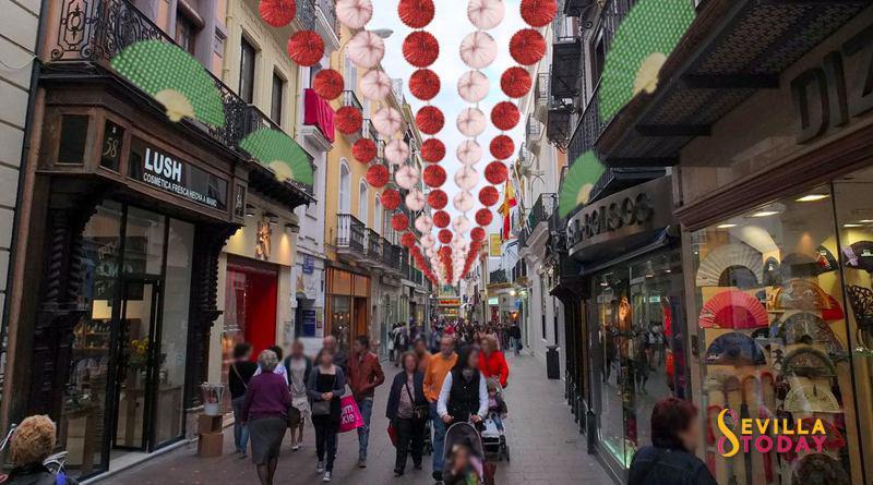 """El Ayuntamiento instala el """"alumbrao"""" de Feria creyendo que es el de Navidad"""