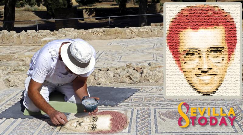 Descubren en Itálica un mosaico con la cara de Jordi Hurtado